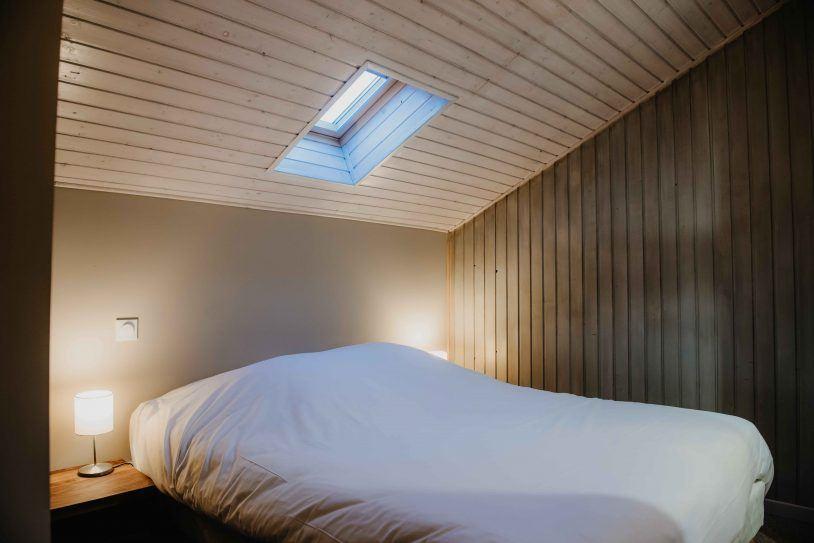 Chambre chalet cosy bain nordique