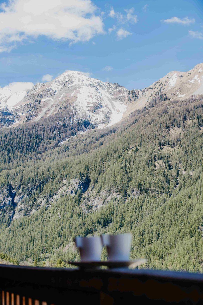 vue montagne studio terrasse