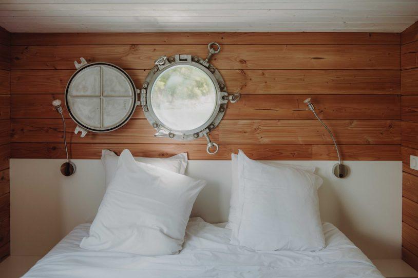 chambre toues cabanées du lac